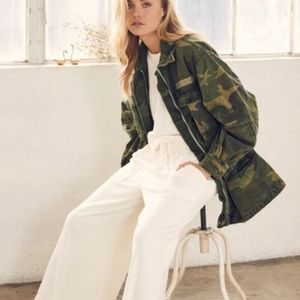 Free People Seize the Day Military Jacket Camo L